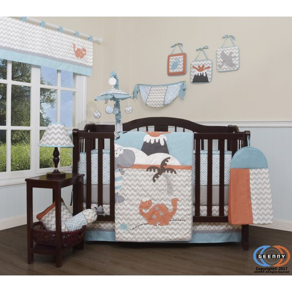 Harriet Bee Hollywood Baby Boy Dinosaurs Nursery 13 Piece Crib