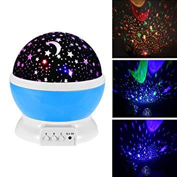 Amazon.com: Baby Night Light Moon Star Projector 360 Degree Rotation