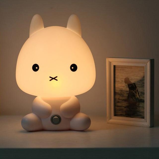 NEW Baby Room Rabbit/Bear/Panda/Dog Cartoon Animal Night Light Warm