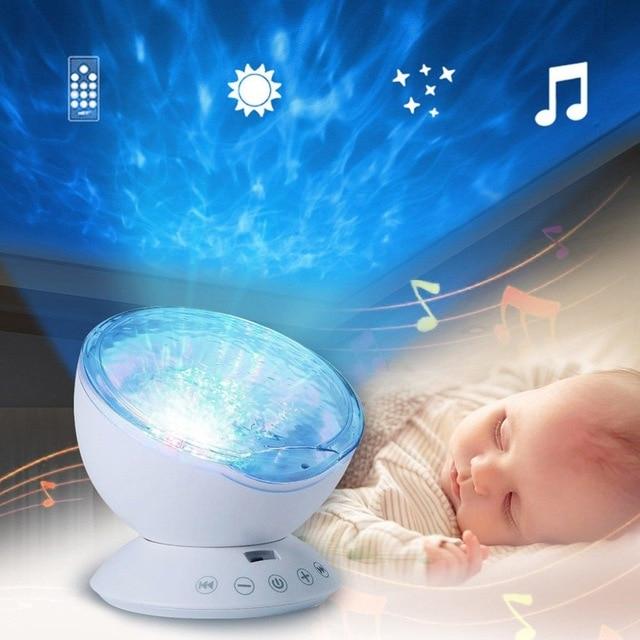 LED Star Projector Novelty Lighting Ocean Kids Baby Nursery Night