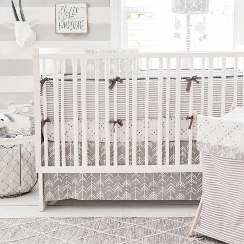 Arrow Baby Bedding | Arrow Crib Bedding | Grey Crib Bedding | Unisex