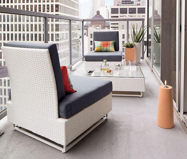 White balcony furniture
