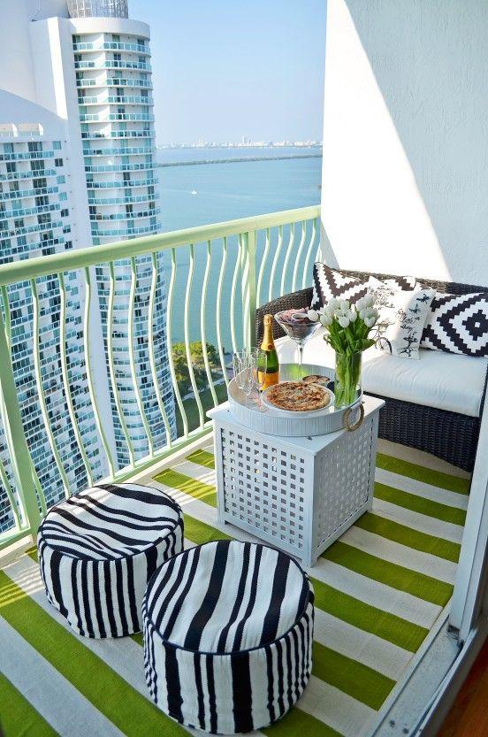Small balcony furniture | deck ideas | Pinterest | Apartment balcony