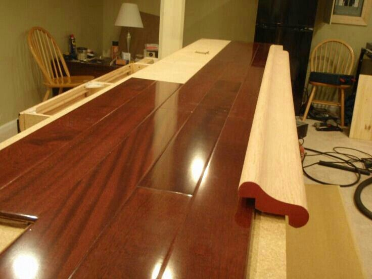 bar top edge   For the Home   Bar countertops, Man cave bar top