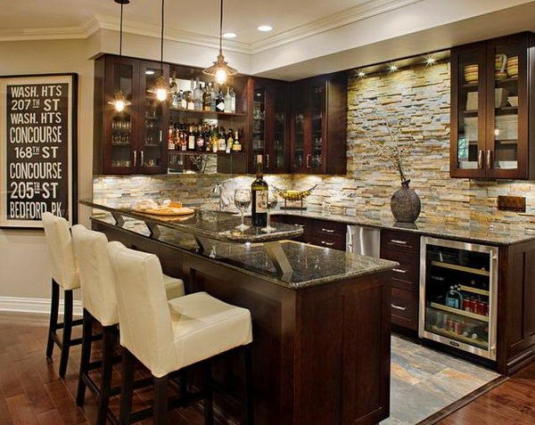 Popularity of the basement bar   countertop ideas