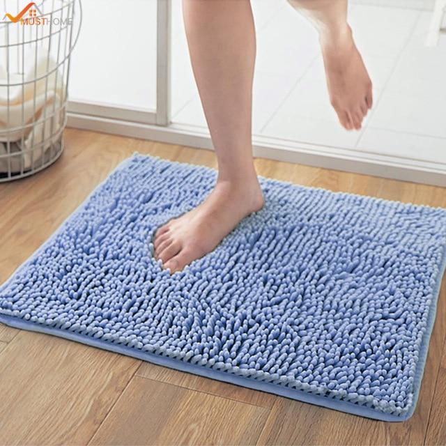 40*60CM Soft Shaggy Inch Non slip Microfiber Shag Bathroom Rugs Bath