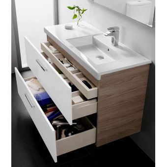 Roca Prisma 1200mm Double Basin with Metal Structure : UK Bathrooms