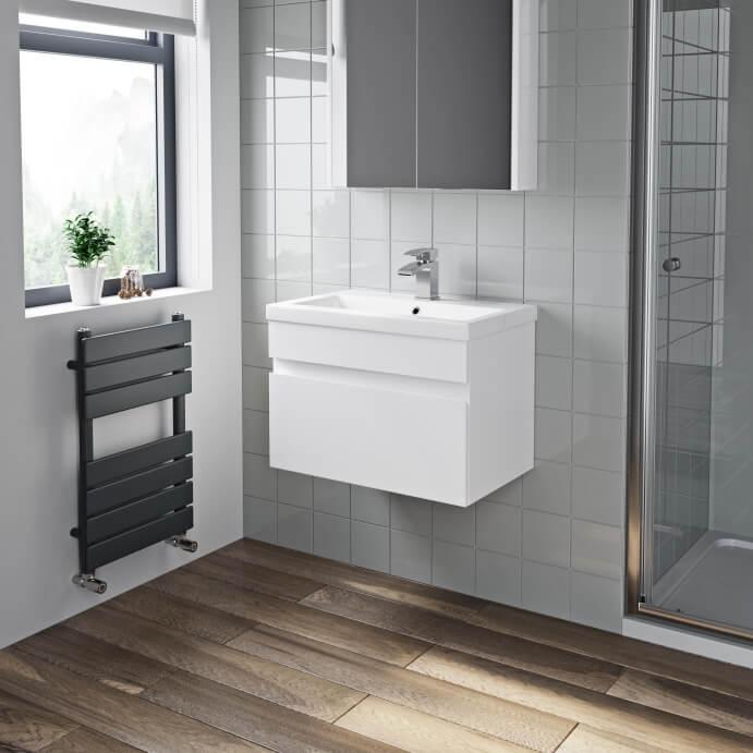 White Bathroom Vanity Units - Plumbworld