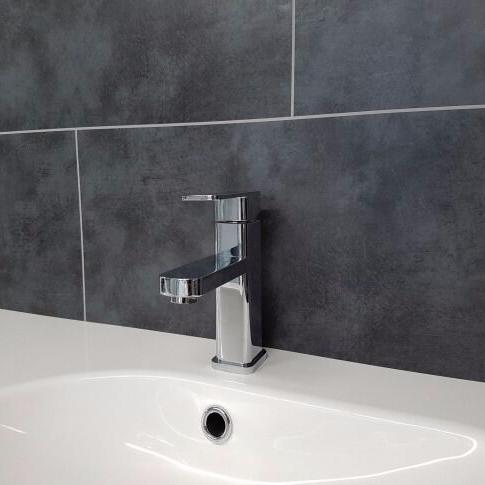 Dark Grey Concrete 2 Tile Bathroom Wall Panels