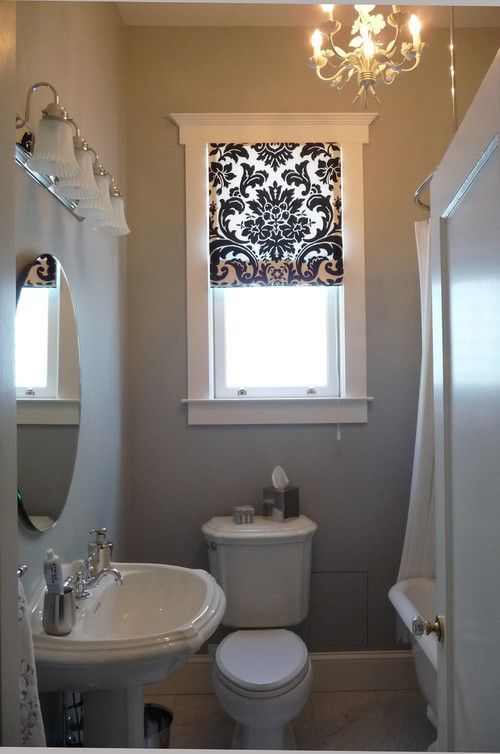 bathroom curtains for small windows- that's a cool idea but I would