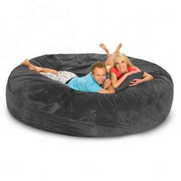 Relax Sack 8' Bean Bag Sofa / Bed - Charcoal - BeanBagTown.com