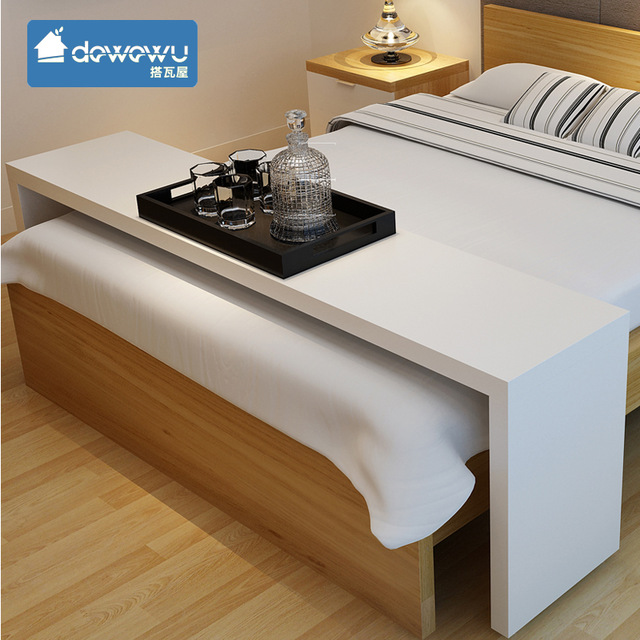 Multifunction movable across the bed desk laptop computer table-in