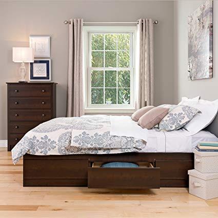 Amazon.com - Prepac EBQ-6200-3K Queen Sonoma Platform Storage Bed