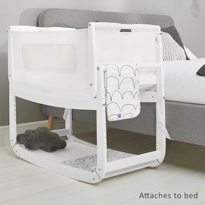 SnuzPod 3 Bedside Crib in White   Modern Baby Cots - Scandiborn USA
