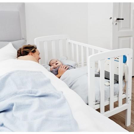 BabyDan By My Side/Bedside Crib - White   Pupsik Singapore