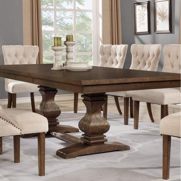 Shop Best Quality Furniture Rectangular Walnut Extension Dining