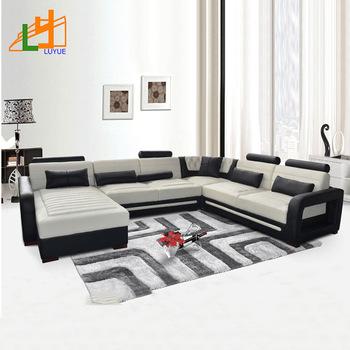 Best Price European Style Heated Genuine Leather 7 Seater Sofa