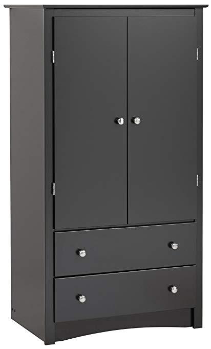 Amazon.com: Black Sonoma 2 Door Armoire: Kitchen & Dining