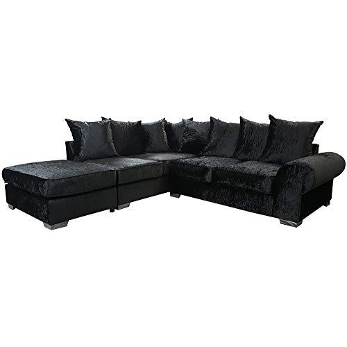 Black Corner Sofa: Amazon.co.uk