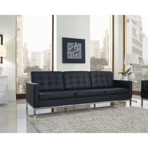 Florence Style Leather Loft Sofa | Zin Home