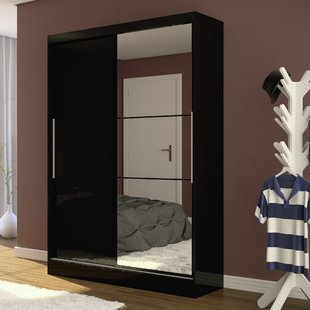 Sliding Black Wardrobe   Wayfair.co.uk