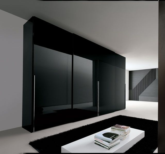 black wardrobe   Bedroom K   Wardrobe design bedroom, Bedroom