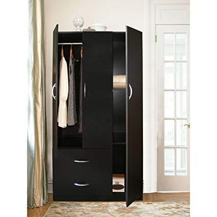 Amazon.com: Home Source Industries RLN3224H Modern 3-Door Wardrobe