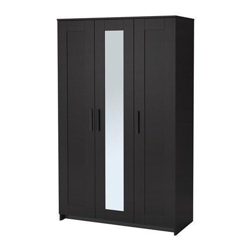 Amazon.com: IKEA Wardrobe with 3 Doors, Black 2028.81120.218