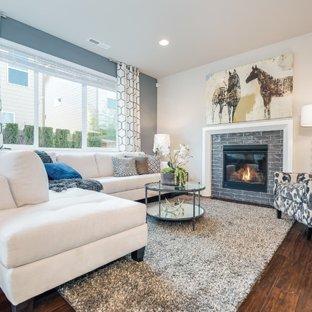 Blue Gray Living Room Ideas & Photos | Houzz