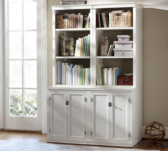 Logan Bookcase with Cabinet Doors | Pottery Barn