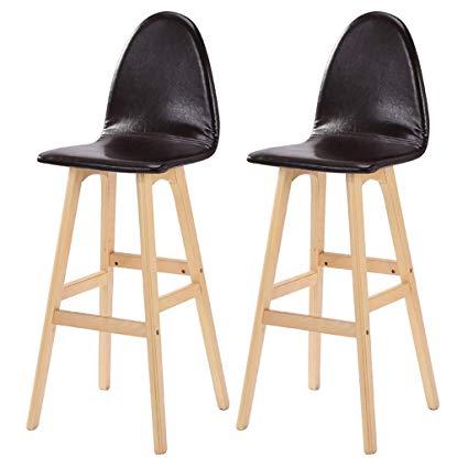 Amazon.com: NYJS Bar Stool,Bar Chair Wooden Kitchen Bar Stools,Bar