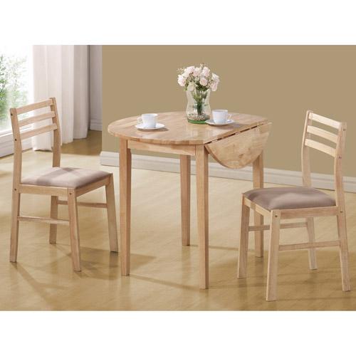 Coaster Company 3-Piece Breakfast Table Set, Natural - Walmart.com
