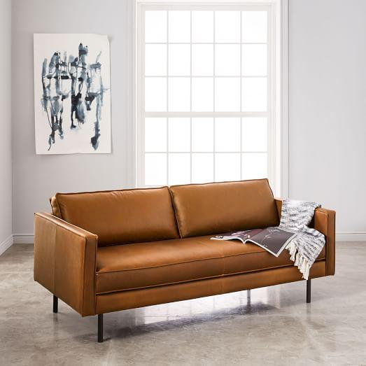 Axel Leather Sofa (76
