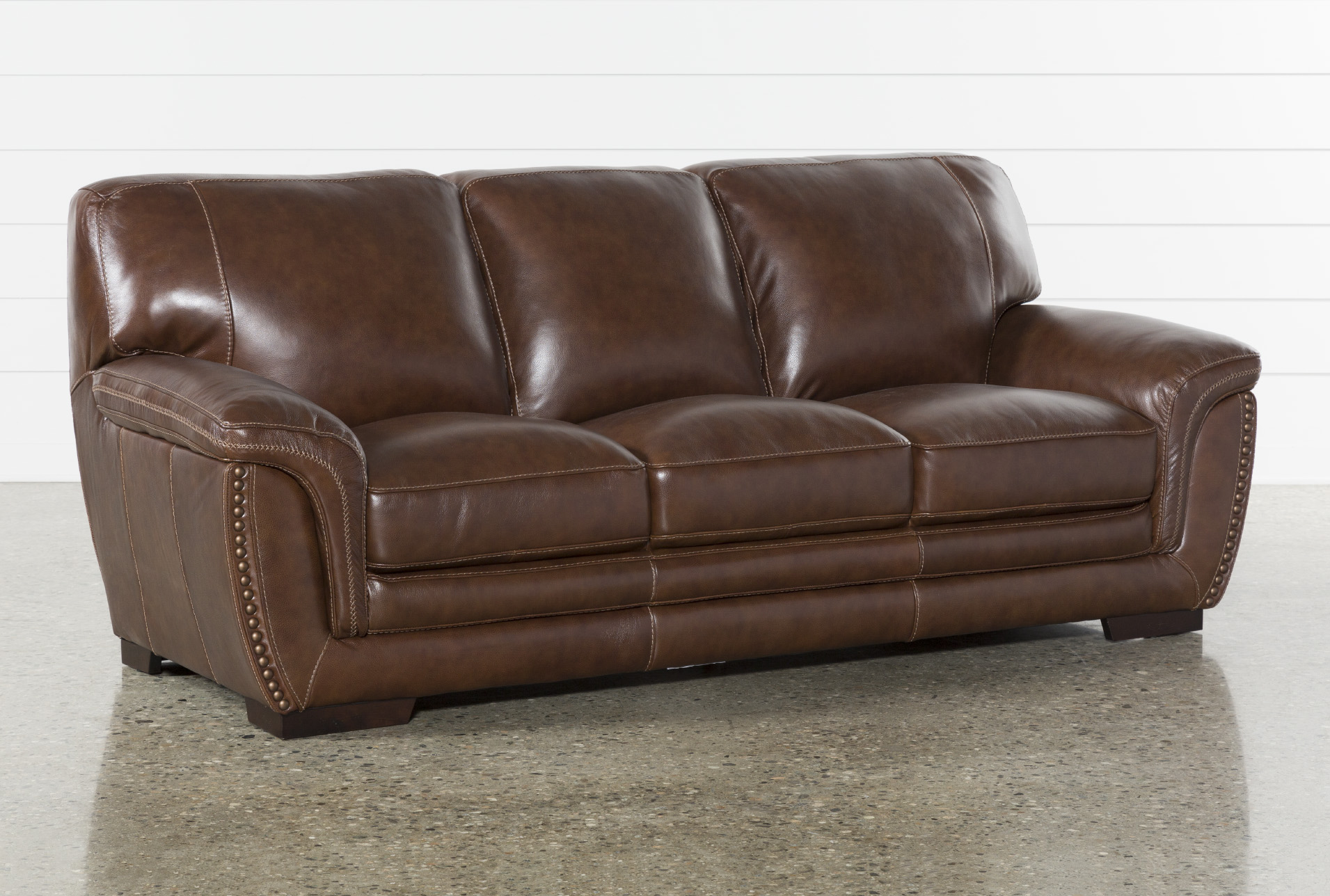 Brown 100% Leather Sofas & Couches - Free Assembly with Delivery