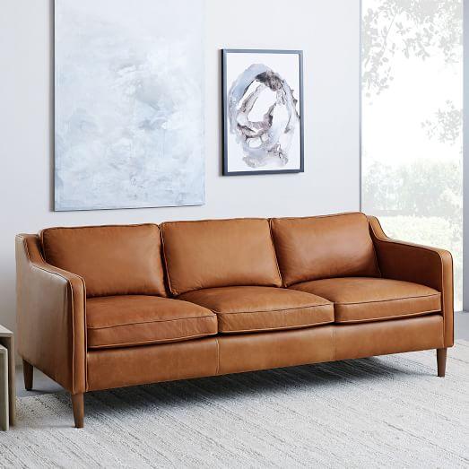 Elegant Furniture – A Brown   Leather Sofa