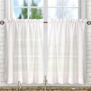 Tier Valances & Kitchen Curtains You'll Love | Wayfair