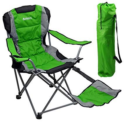 Amazon.com : GigaTent Camping Chair with Footrest, Green : Sports