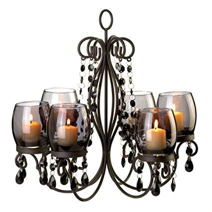 Amazon.com: VERDUGO GIFT Midnight Elegance Candle Chandelier: Home