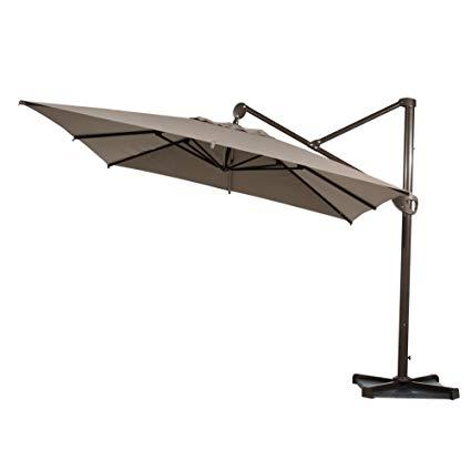 Amazon.com : Abba Patio Offset Patio Umbrella 10-Feet Hanging