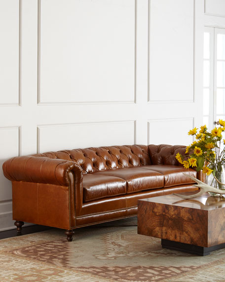 Davidson 94 Three-Cushion Chesterfield Sofa