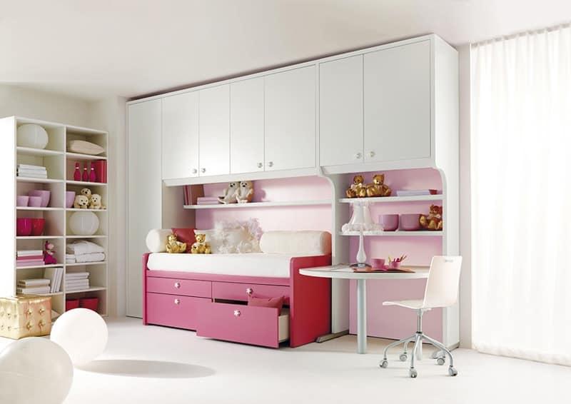 Furniture for childrens' bedroom, modular components | IDFdesign