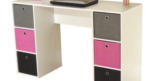 Kids Desk with Six Fabric Storage Bins, Multiple Colors - Walmart.com