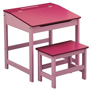 Amazon.com: Premier Housewares Children's Desk And Stool Set - Pink