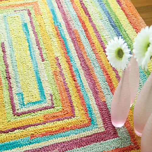 Concentric Squares Rug and Nursery Necessities in Interior Design