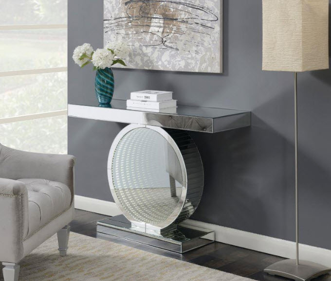Contemporary Console Table With LED Base