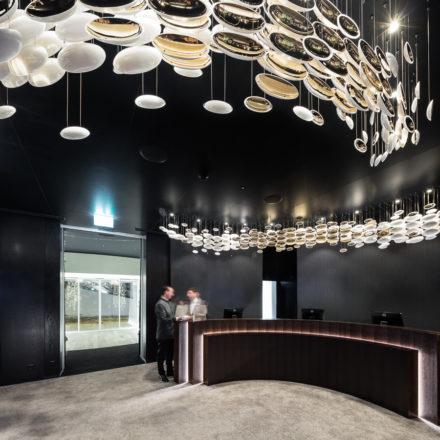 Contemporary lighting - Modern light fixtures and interior glass