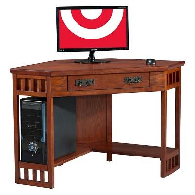 Mission Corner Desk Oak - Leick Home