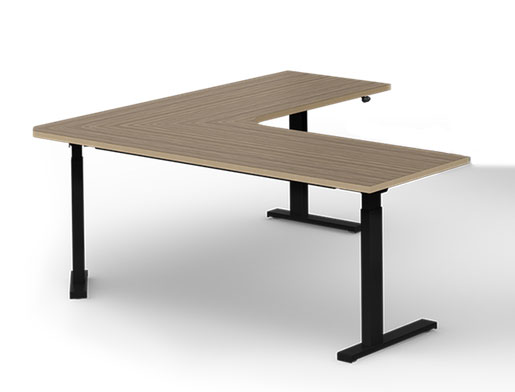 Office Furniture   Computer Desks   Ergonomic Desk, 71 x 71 x 26 D