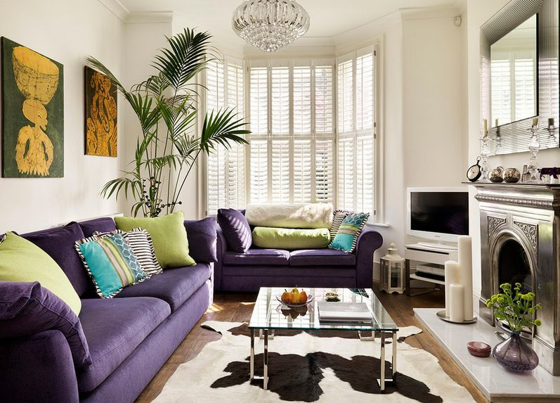 How To Match A Purple Sofa To Your Living Room Décor | For Hannah