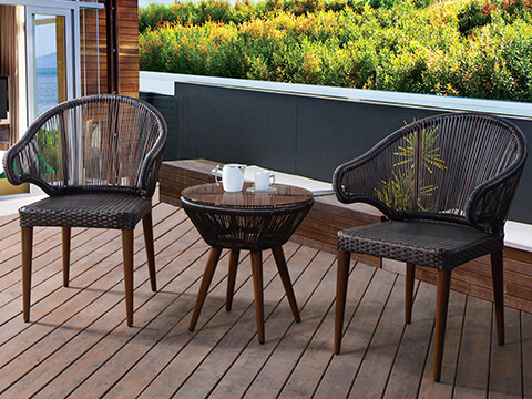 Small Balcony Furniture Outdoor Deck Furniture - KR Outdoor Furniture